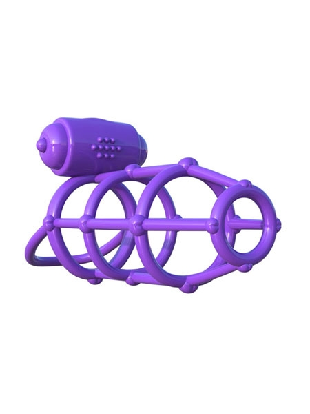 C-Ring Vibrating Climax Cage Mauve